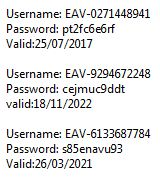 eset nod32 username and password keys