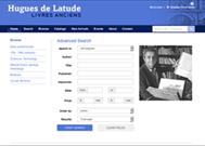 SITE WEB DE LA LIBRAIRIE