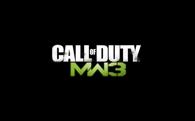 MW3 Wallpaper Simple Text in Black Background