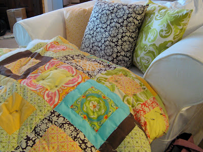 Quilt made using Meadowsweet fabric by Sandi Henderson for Michael Miller