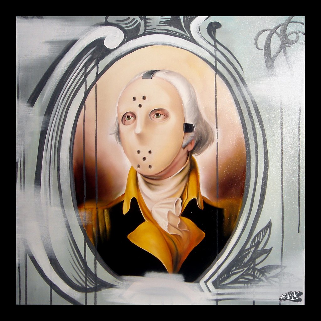 Rebel George Washington America hatziel art new contemporary