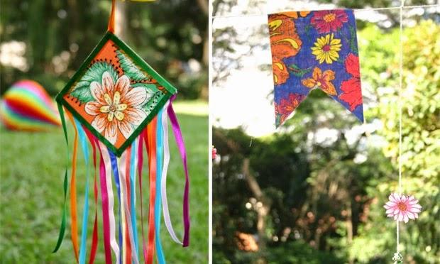 Penso, logo divido Ideias para Festa Junina -> Decoração De São João Com Material Reciclado