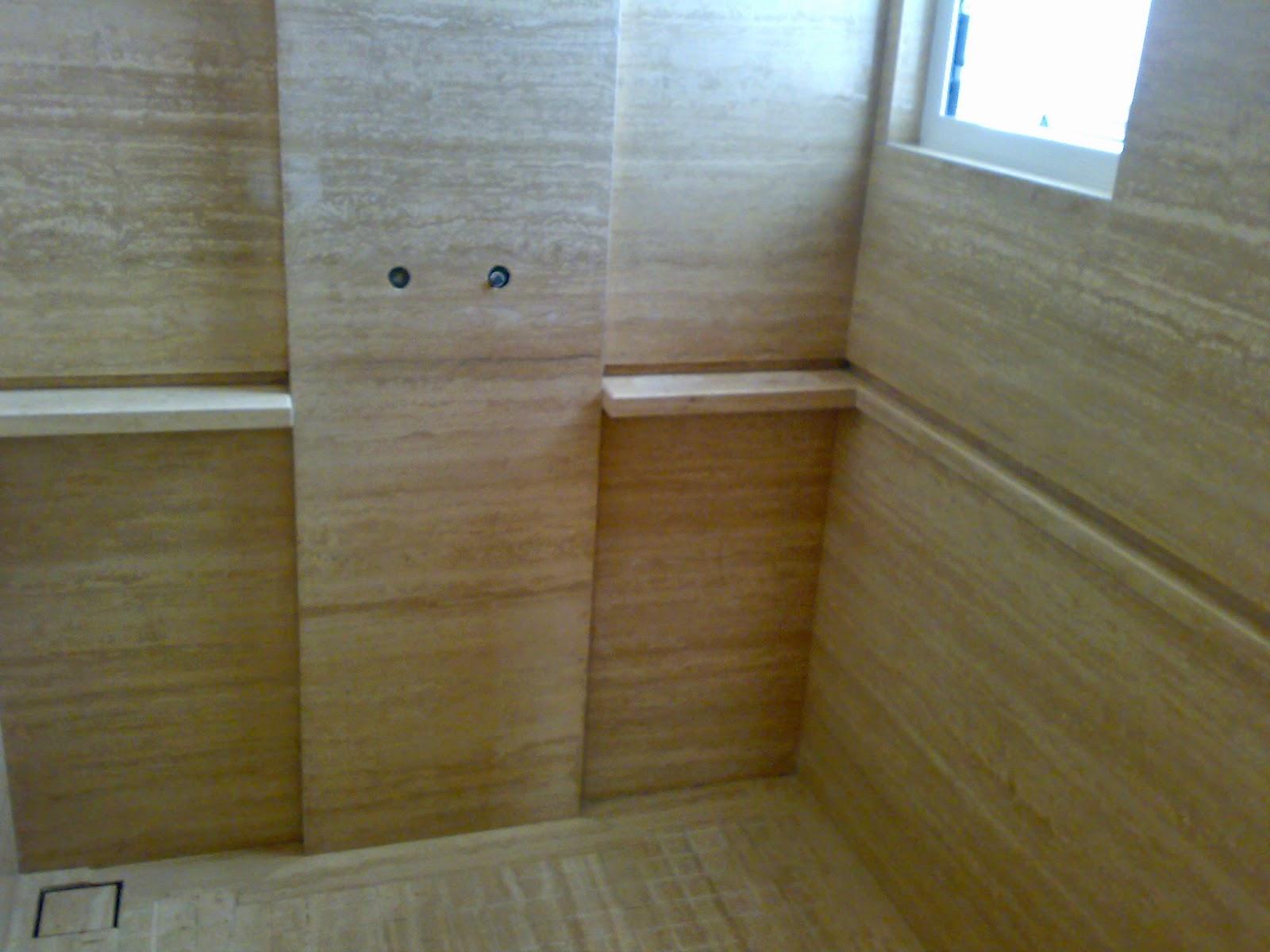 marmer trafertine untuk kamar mandi minimalis