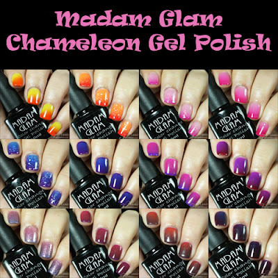 Madam Glam Chameleon Thermal Gel Polish Swatches and Review