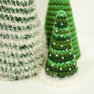 free crochet cone christmas tree pattern