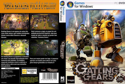 Jogo Gatling Gears PC DVD Capa