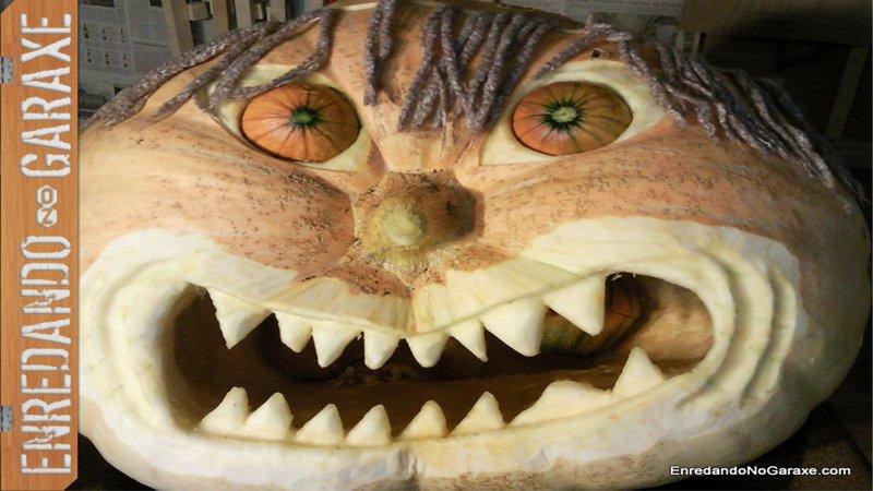 Ver como tallar linterna de Halloween, Samain 2012, enredandonogaraxe.com