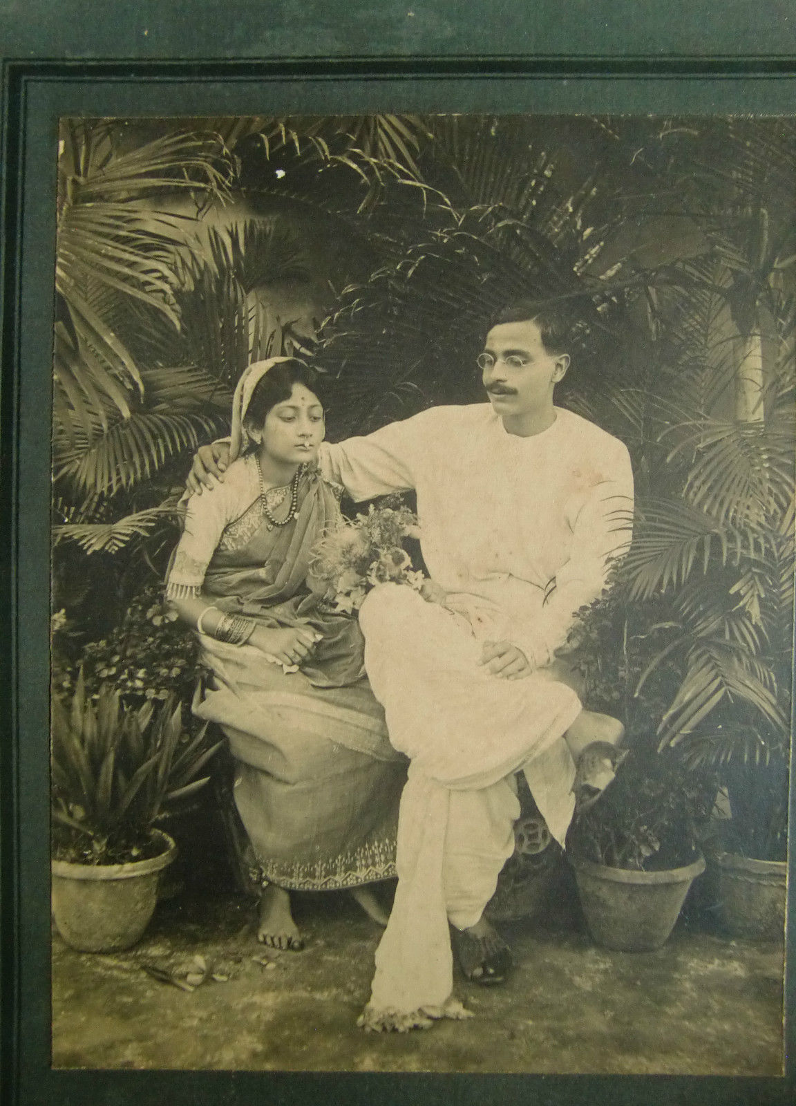 Vintage Photograph of Bengali Husband and Wife