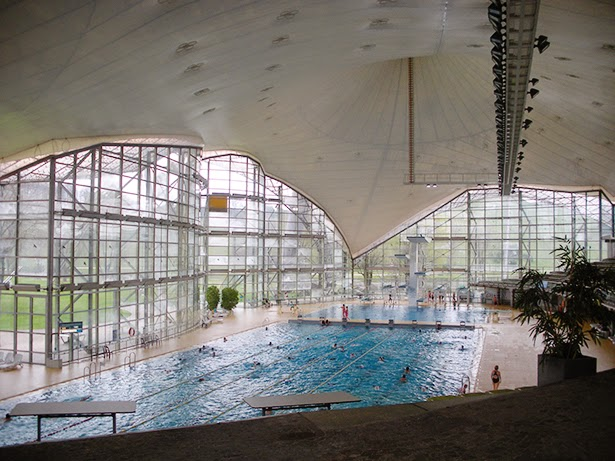 Olympic Aquatic Center in Munich, Germany