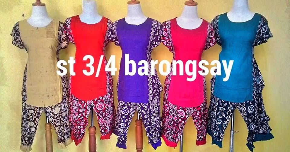 baju batik pekalongan murah : setelan 3/4 barongsay | grosir batik ...