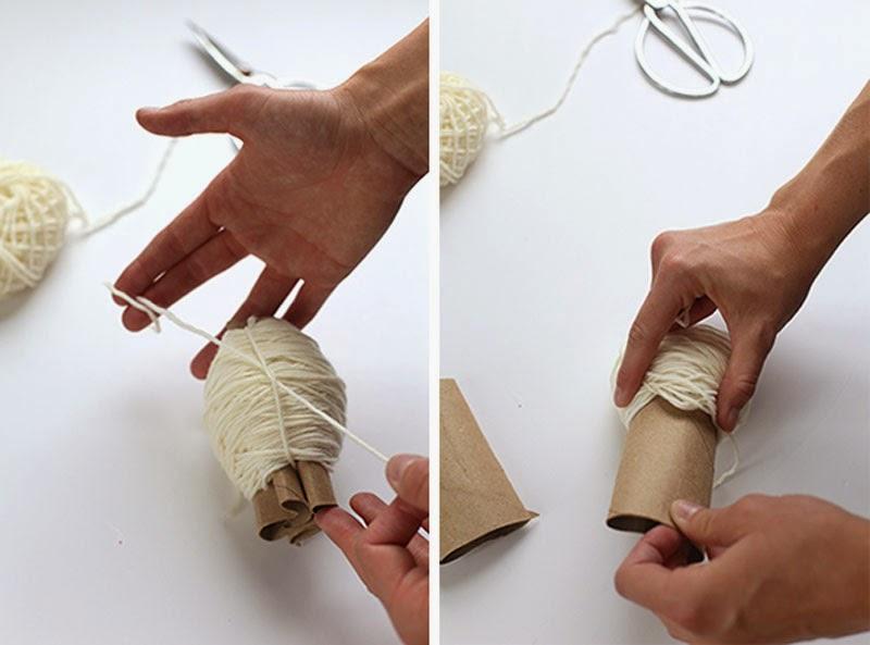 DIY, Tapiz con Pompones de Lana