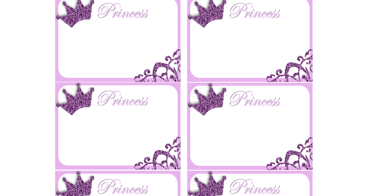 Princess Name Tags Free Printable Fashionable moms: princess nametags ...
