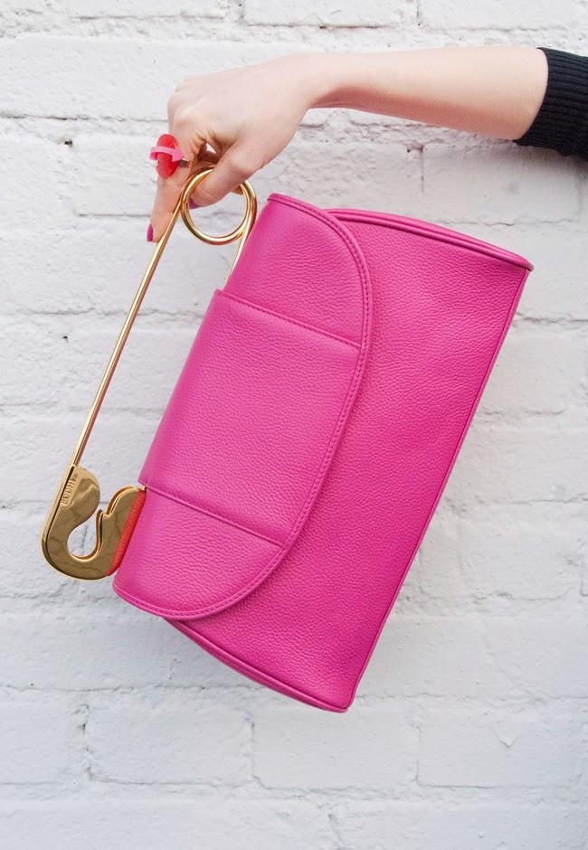 bodhi bags, safety pin clutch, gossip girl bag