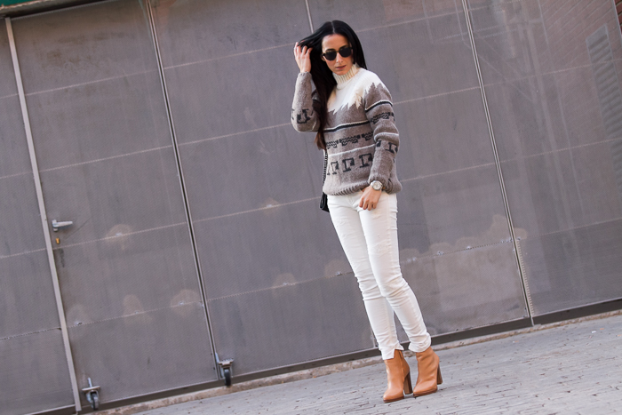 Streetstyle Total white outfit