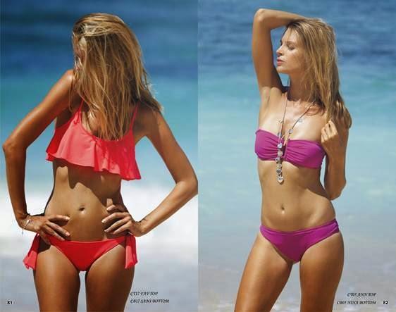 Coral sexy bikinis