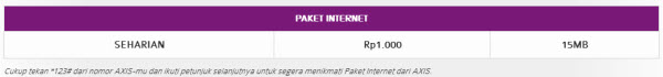 Paket Internet Axis Harian