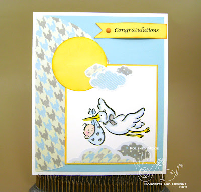 Picture of the front of the baby card