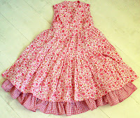 dress, pink, strawberries