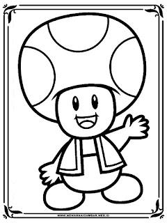 mewarnai gambar kartun jamur