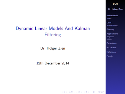 Dynamic linear models