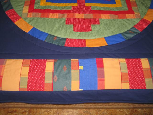 narzuta patchworkowa mandala