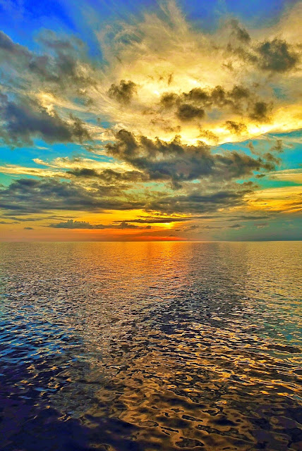 Sunset in the Eastern Caribbean aboard the Carnival Sunshine