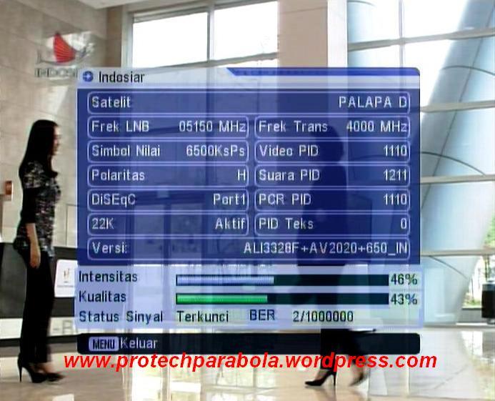 Freq/frek baru Indosiar di Satelit Palapa D