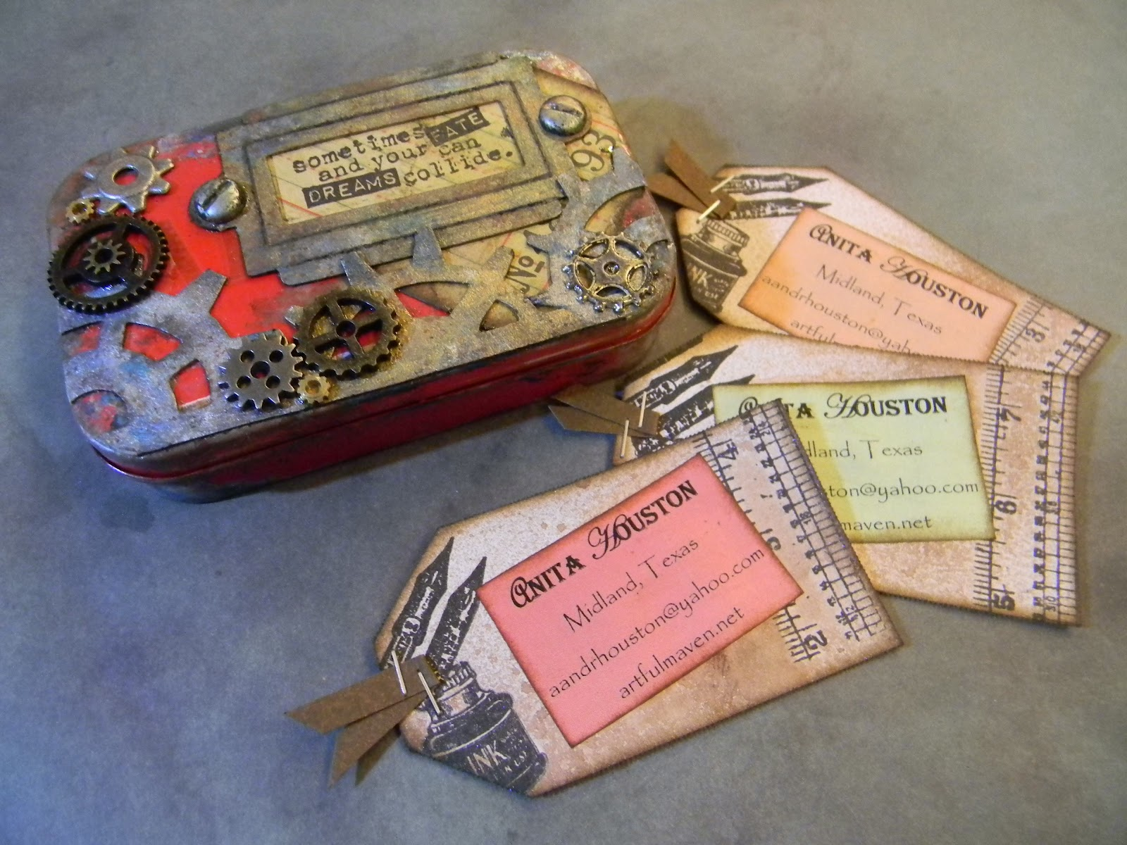 The Artful Maven: Vintage Business Card Holder