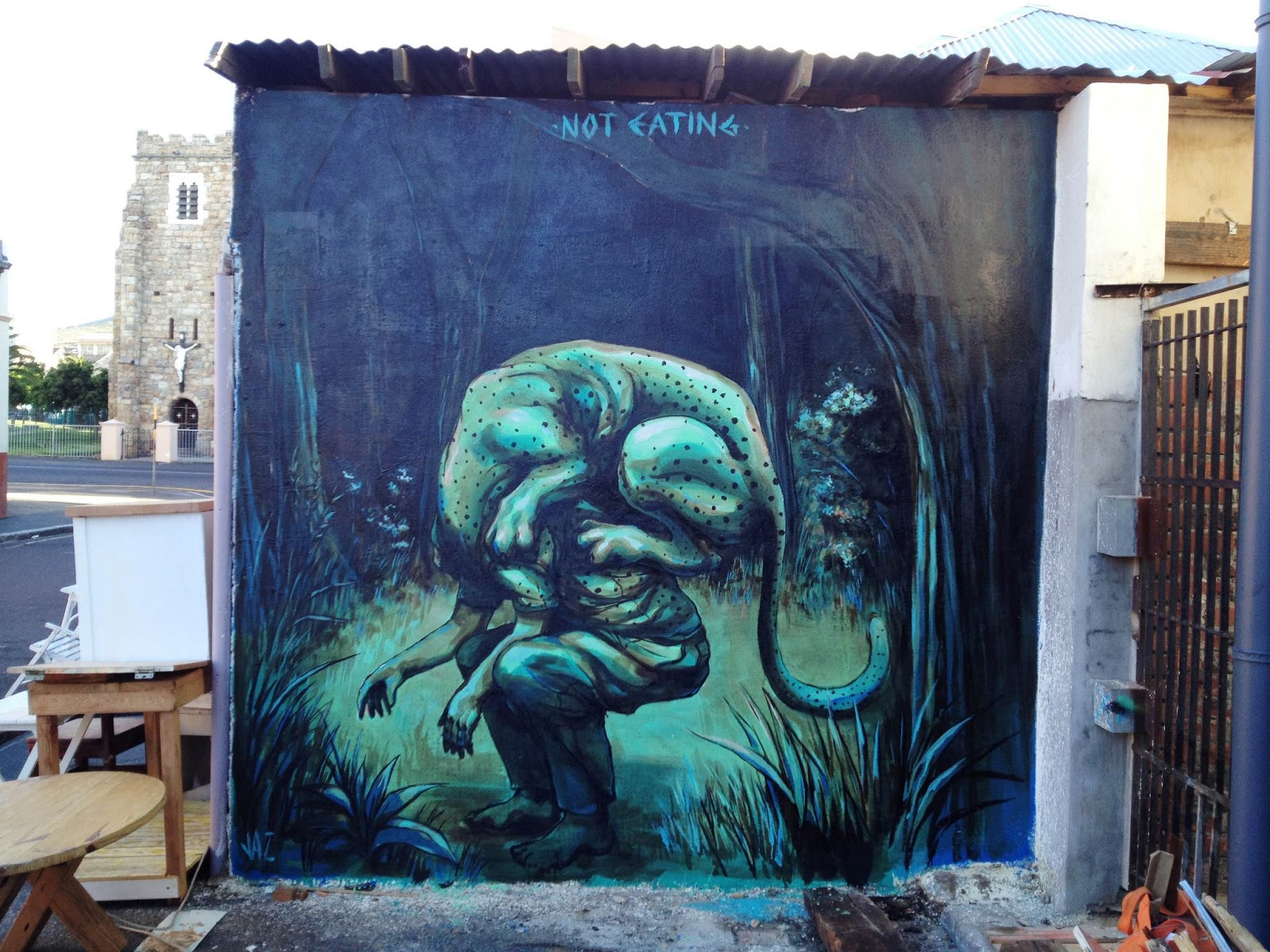 Jaz new mural in cape town south africa streetartnews for African mural painting