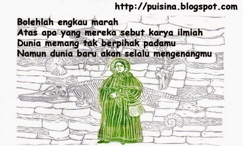 Puisi Mary Anning sang Kolektor Fosil