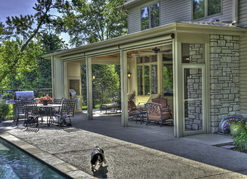 Great Outdoor Room On The Cover Of County Living Magazine
