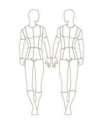 Male The Basic Requirement Before Starting With Any Sketch You Need A Body Template