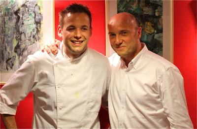 El Chef del Restaurante CARMESI de París con Esteban Capdevila. Blog Esteban Capdevila