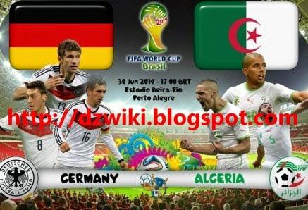 نتيجة مباراة الجزائر المانيا كأس العالم 2014 البرازيل