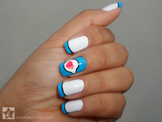 Unhas Decoradas - Heart Message