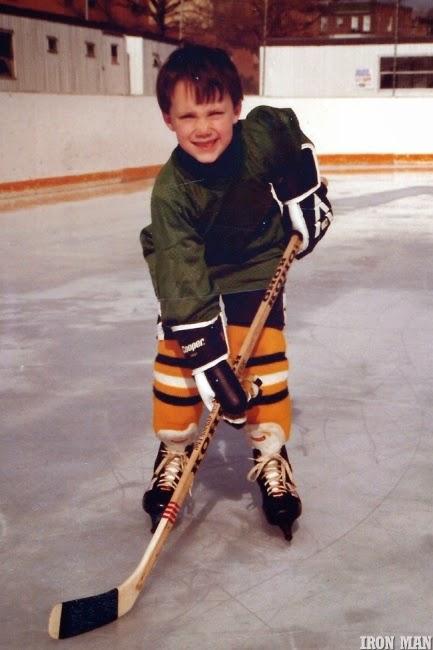 Greg Plitt jogando hóquei quando era garoto - Foto: Per Bernal