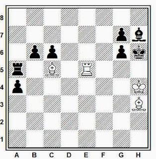 Estudio artístico de ajedrez compuesto por A. Manvelyan (Moscú-850, 3º premio, 1997)