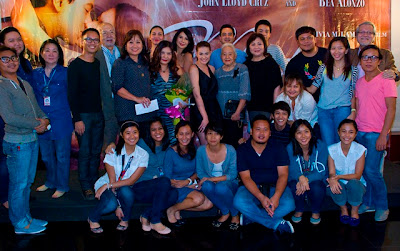 ABS-CBN executives and The Mistress cast and crew during their victory party