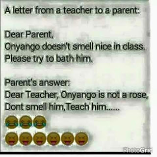 See A Parent's Reply To Teacher's Complain About A Student (Screenshot)