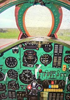 кабина спарки МиГ-25 ПУ