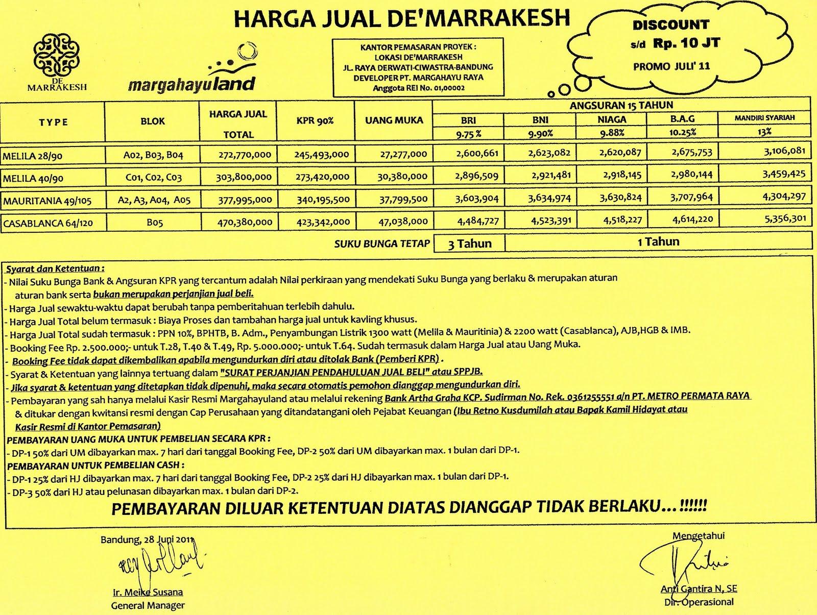 1600 x 1205 · 471 kB · jpeg, Daftar Harga Jual 'De Marrakesh ...