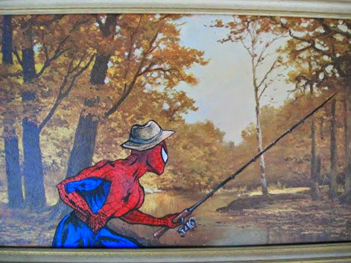 Thrift Store Paintings With Added Extras