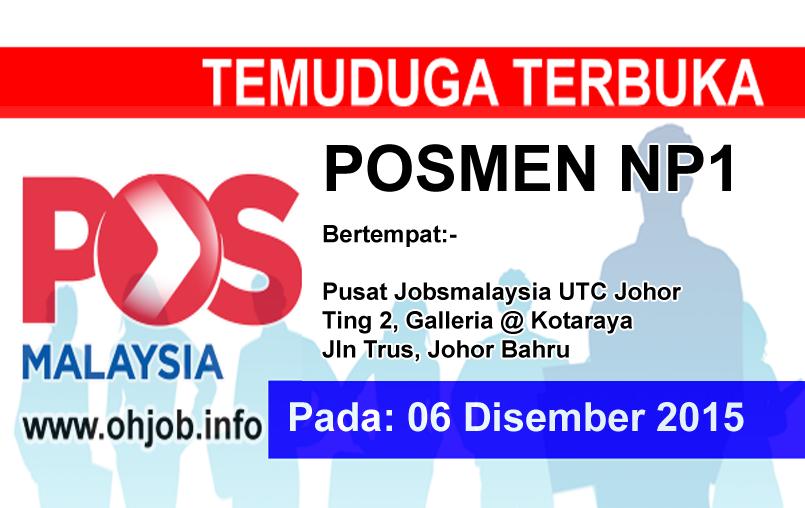 Jawatan Kerja Kosong Pos Malaysia logo www.ohjob.info disember 2015