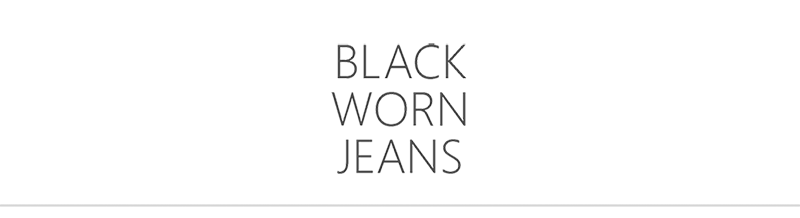 Black Worn Jeans