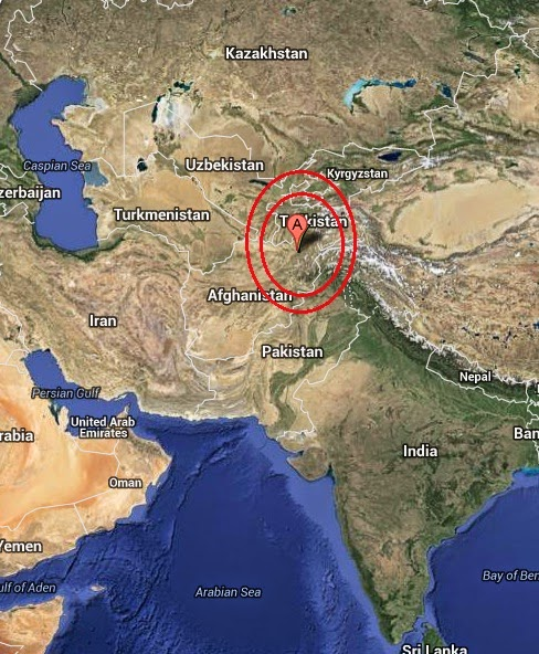 Magnitude 4.5 Earthquake of Farkhar, Afghanistan 2014-08-27