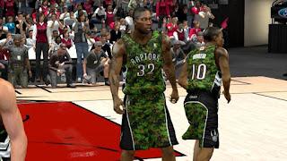 NBA 2K13 Toronto Raptors Camouflage Jersey Patch