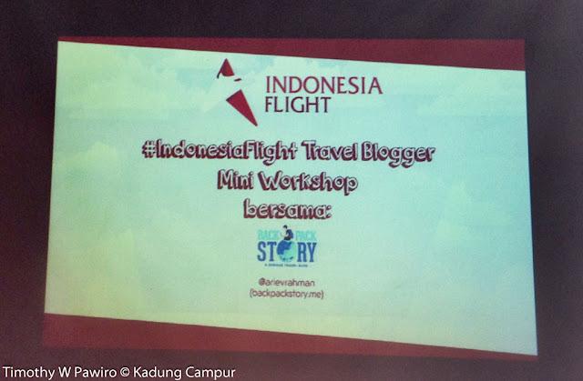 Indonesia - Jakarta - #Indonesia Flight Mini Travel Blogger Workshop