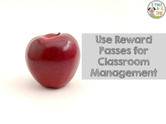 Middle school classroom management can be difficult, but it can be made easier if you surprise reward students with various passes.