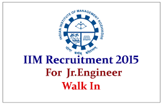 Indian Institute of Management Kozhikode Recruitment 2015 for the post Junior Engineer