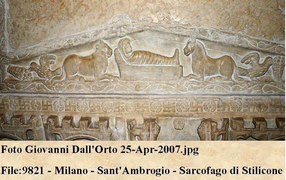 Natività, IV secolo Milano  dans immagini sacre Milan+Crib+Frieze